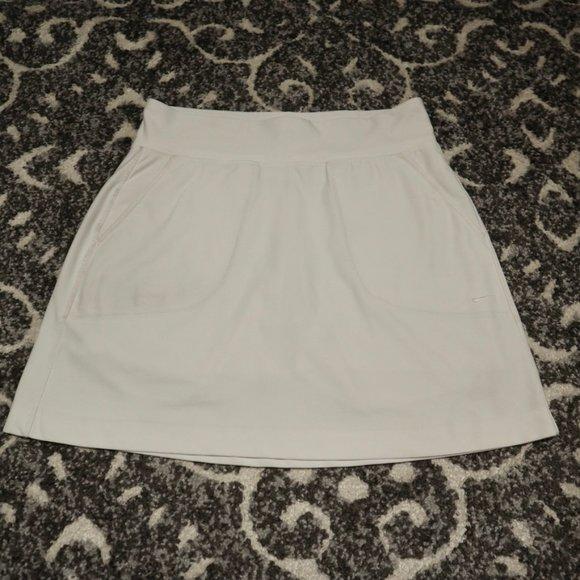 Nike Golf Dri-Fit White Skirt, S